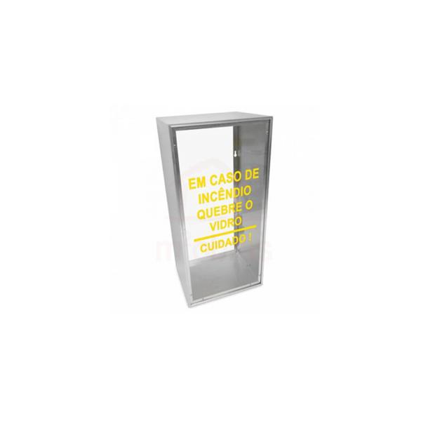 Abrigo aluminio e vidro para extintor PQS 4kg