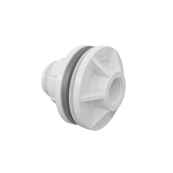 Adaptador roscável com anel para caixa d água 1 polegada