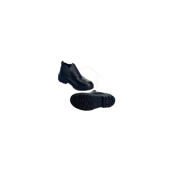 Botina bota de couro solado PU proteção no bico