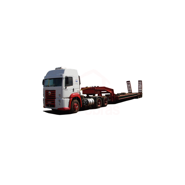 Caminhão prancha máquinas