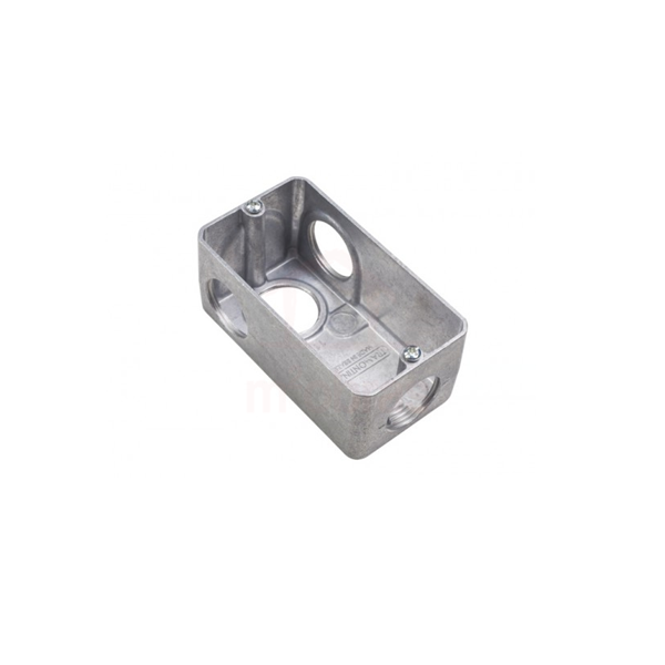 Condulete múltiplo tipo L - alumínio