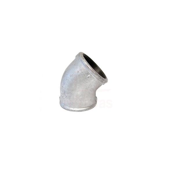 Cotovelo 45º galvanizado 1 1/4  - BSP
