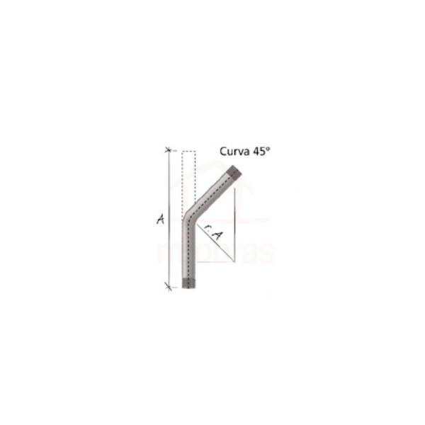 Curva 45g para eletroduto ferro galv eletrolitico 3/4
