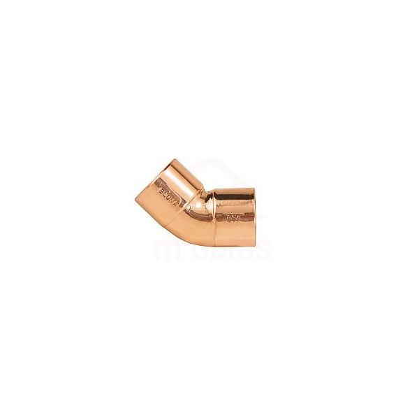 Curva de cobre 45G