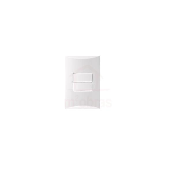 Interruptor com 2 teclas Simples 4x2