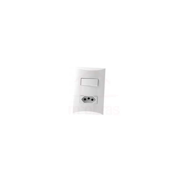 Interruptor Simples + Tomada 4x2