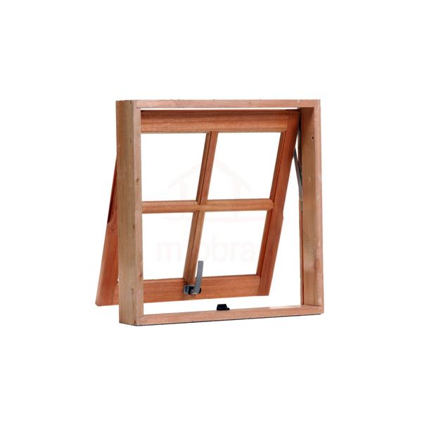 Janela basculante de madeira
