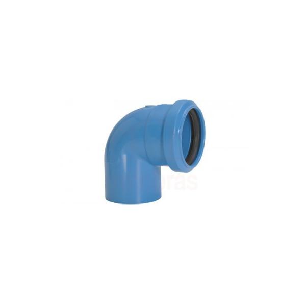 Joelho para esgoto 90G 38 mm com anel