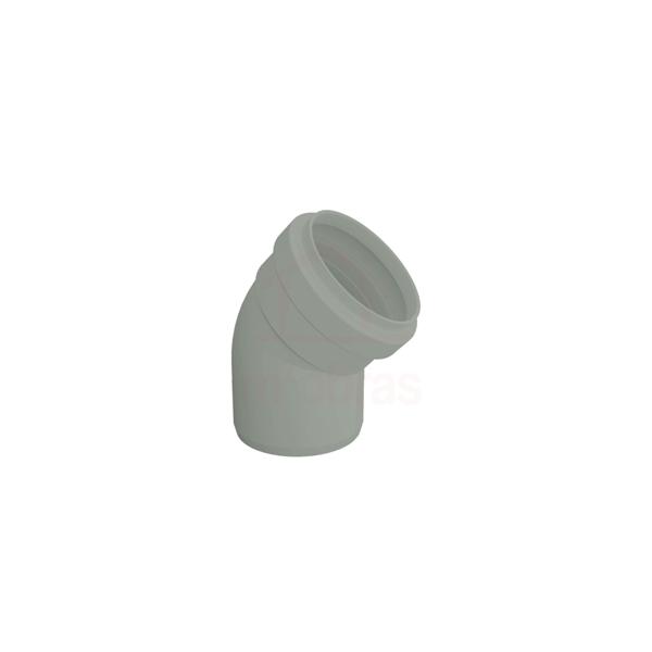 Joelho para esgoto serie reforçada 45G 100mm com anel