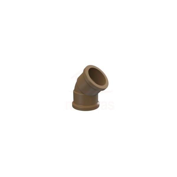 Joelho PVC soldável 45G para agua fria 20mm