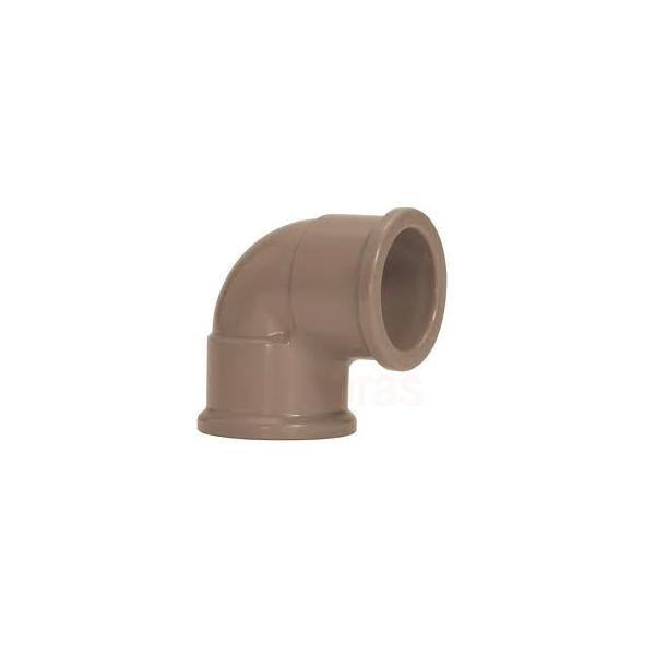 Joelho PVC soldável 90G para agua fria 25mm