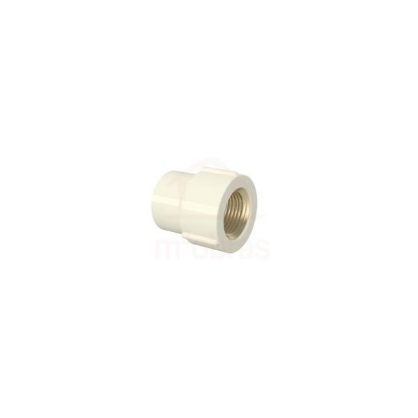 Luva de Transição LR 22mm x 1/2 AQ/CPVC