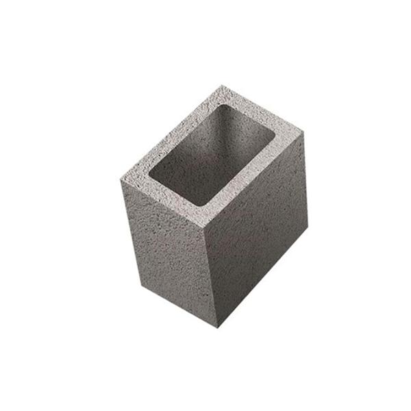 Meio bloco concreto estrutural 14 x 19 x 19 cm