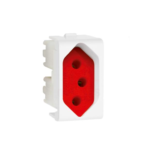 Módulo para tomada cor vermelha 220V 10A