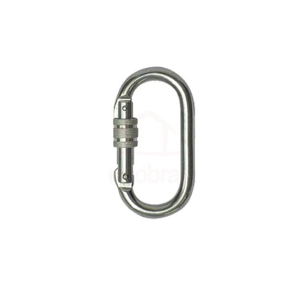 Mosquetão de aço oval