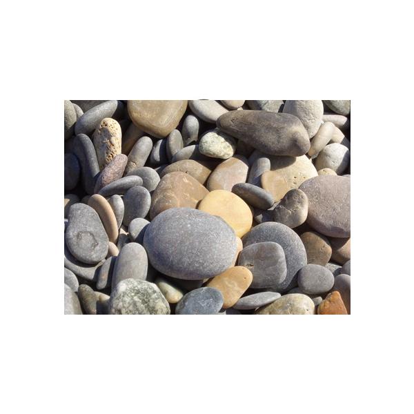 Pedra seixo tons areia rio