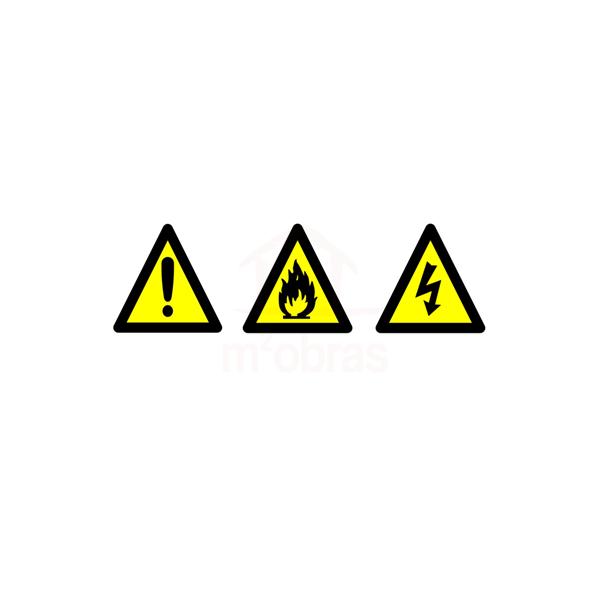 Placa de incêndio Alerta triangular