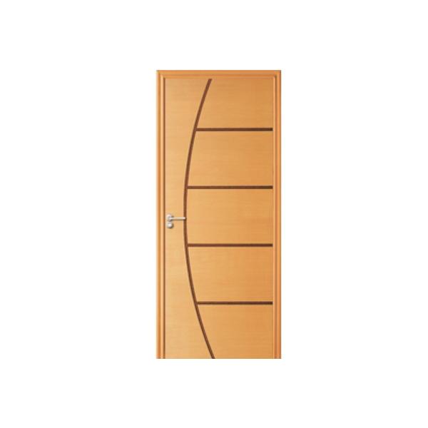 Porta de madeira com frisos fino acabamento kit