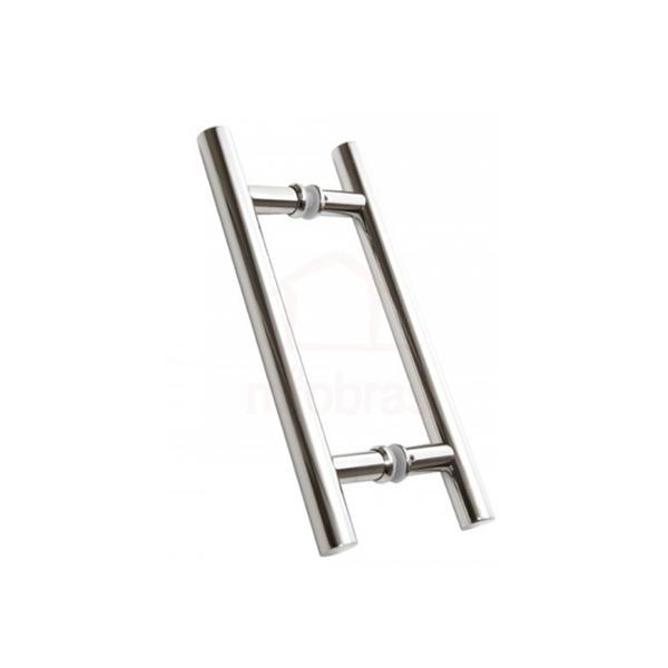 Puxador para porta de 30cm eixo e 40cm acabado