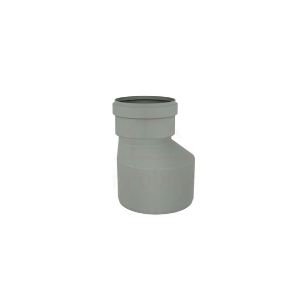 Redução excêntrica PVC, serie reforçada, DN 100 x 75mm para esgoto