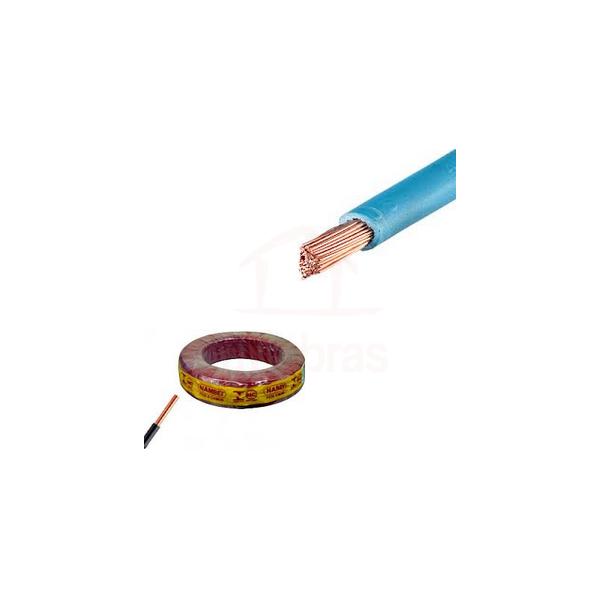 Rolo fio cabo flexível 6mm preto