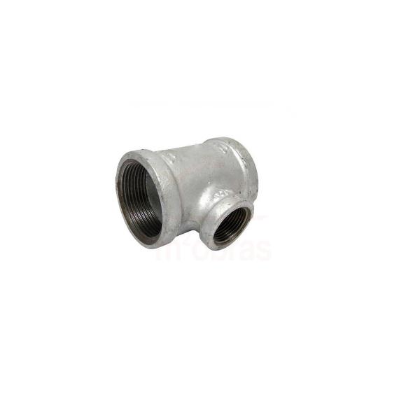 TE redução galvanizado 1 1/4x 1 pol - BSP