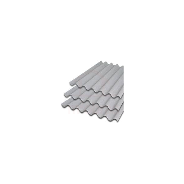 Telha ondulada de fibrocimento 2,44 x 1,10 6mm