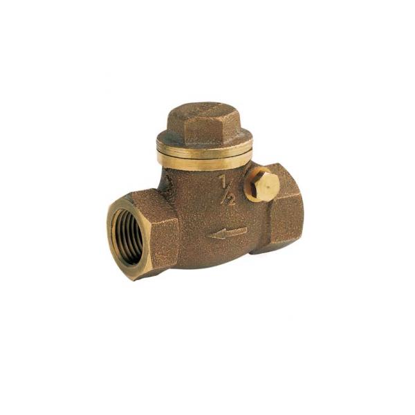 Válvula de retenção horizontal, de bronze (pn25) 1, 400 psi